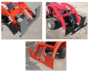 Adapter brackets for single cylinder loaders.