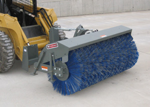Skid steer rotary brooms.