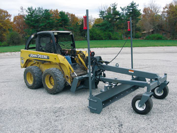 Optional laser pole system for grader blades