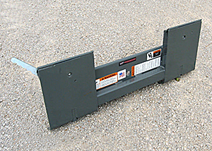 Adapter bracket for Mini Skid Steers / Compact Tool Carriers.
