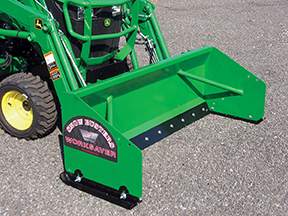 New Worksaver snow pushers for sub-compact tractors.