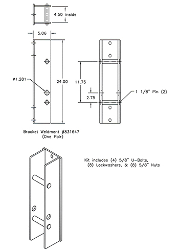 Optional Bolt-on Brackets 831645.