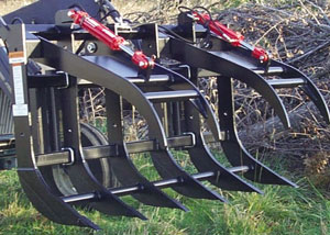 Split-top Grapple Rake.