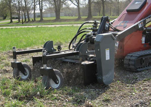 05 Series Powered Landscape Rakes for use on Mini / Compact Skid Steers.