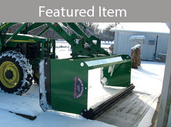 36-Series Snow Pusher from Worksaver with Optional Pull-Back Kit