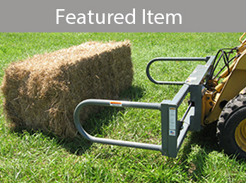 Worksaver large rectangular bale squeeze for skid steer loaders and tractor front loaders