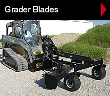 Worksaver skid steer grader blade.
