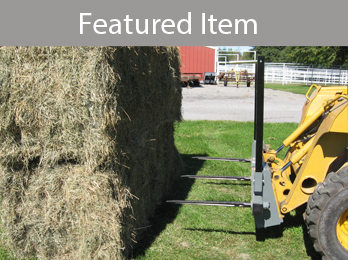 Skid steer bale attachments from Worksaver