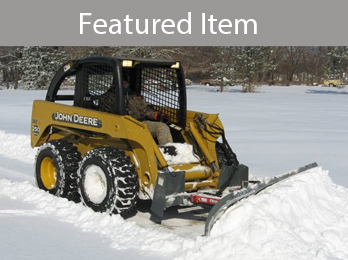 Snow blades from Worksaver are designed for skid steers and tractor front loaders, heavy duty snow blades remove snow easily from driveways, parking lots or other large areas.