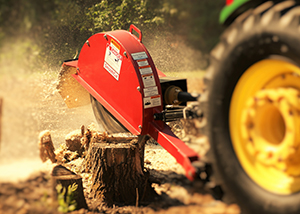 PTO powered stump grinders for fast and easy stump removal
