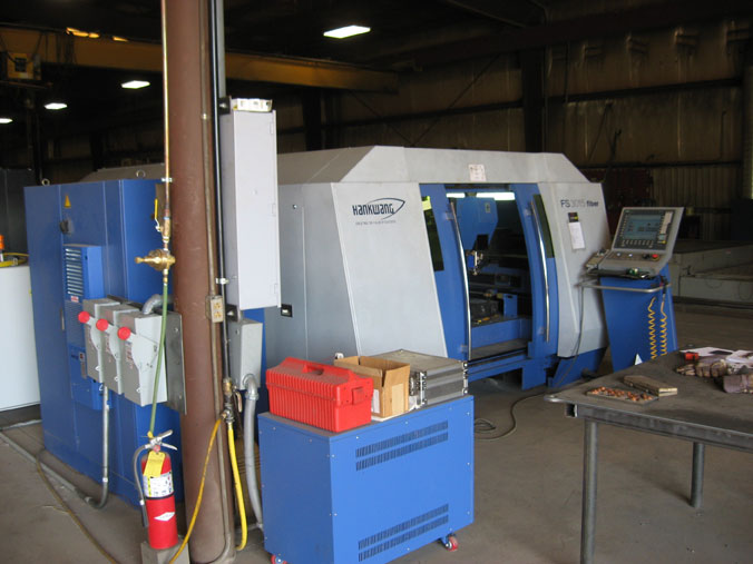 Worksaver uses CNC machining centers, fiber laser shape cutting and robotic welders for quality products.