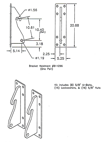 "Optional ""Bolt-On"" Brackets"