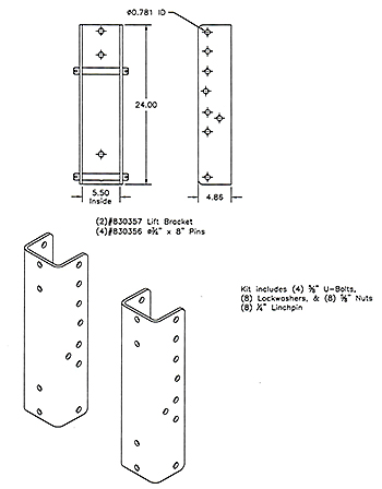 Worksaver 830355 Optional Bolt-on Brackets