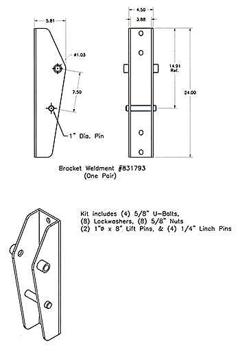 Worksaver 831800 Optional Bolt-on Brackets