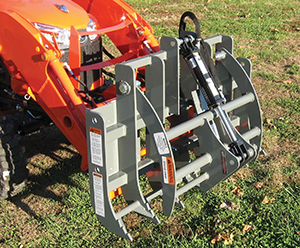 Sub-Compact Tractor mini grapple rake.