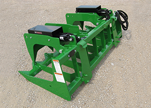 ETG Series Tine Grapple Rakes for skid steers and tractor front loaders.
