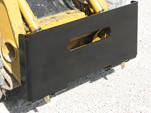 Heavy-Duty Weld-on Skid Steer Plate.