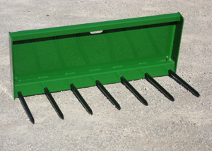 Manure forks for picking up manure, matted straw or other loose materials.
