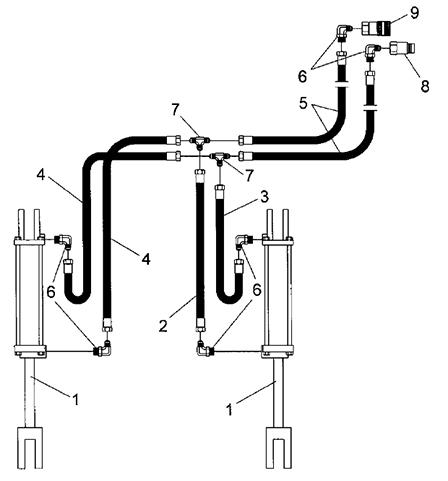 Low Profile Tine Grapple, LPTG Hydraulics