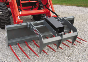 Manure fork attachments.