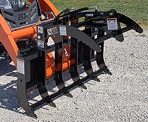 Sub-Compact Tractor Mini Tine Grapple from Worksaver
