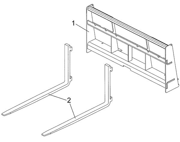Parts List for Compact Pallet Forks SSPF-1236.