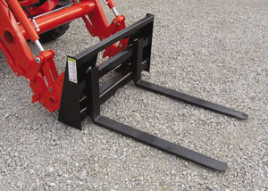Compact pallet forks.