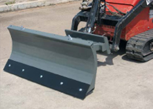 Mini skid steer snow blades.
