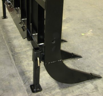 Worksaver's parking stand kit is designed for today's modern skid steer and tractor front loaders.