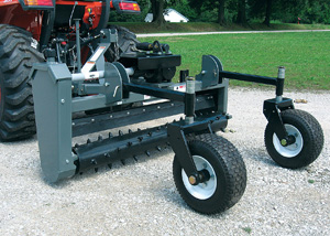 40 Series of 3-pt. mounted Powered Landscape Rakes.