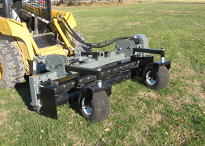 65 Series powered landscape rakes for skid steers up to 65 HP.