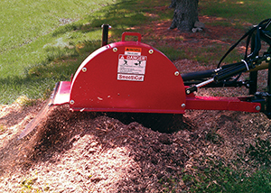 Stump grinders efficiently remove stumps.
