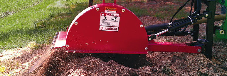 SmoothCut™ PTO Powered Stump Grinders from Worksaver make stump removal fast and easy.