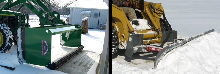 Snow pushers and snow blades from Worksaver are ideal for residential or commercial snow removal.