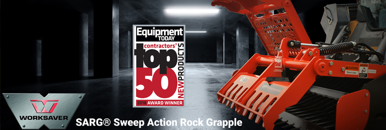 SARG Sweep Action Rock Grapple from Worksaver handles rocks and so much more.