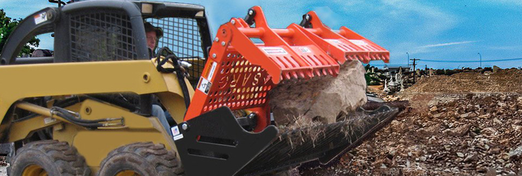 Revolutionizing the way rock grapples work, the SARG® (Sweep Action Rock Grapple) from Worksaver makes life easier. With its patented design, the SARG allows the operator to sort large or small rocks and handle almost all kinds of debris, resulting in low cost of ownership.