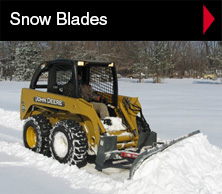 Worksaver snow blades are available in front loader, skid steer and clamp-on models.