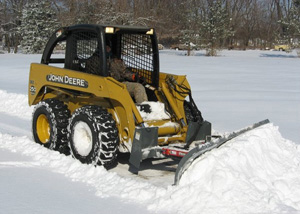 Snow blades for skid steers or tractor front loaders