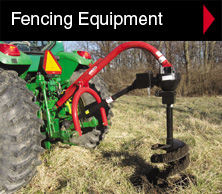 Worksaver hydraulic post drivers and post hole diggers fence building equipment.