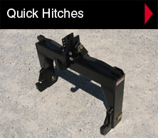 Worksaver quick hitches are built for fast, reliable and easy connection (or disconnection) of 3-pt. implements.